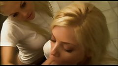 Two HOT Blondes sucking Cock at a public toilet