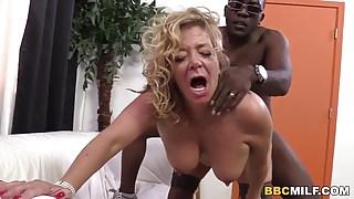 Busty Cougar Karen Summer Tastes Black Cock