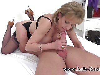 Lady Sonia gets blackmailed into riding cock bareback