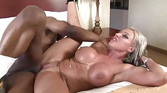 Black dick fucks blonde