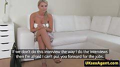Curvy casted brit ballsucking her agent