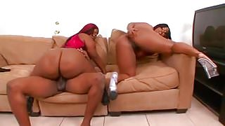 Mz booty getting fucked with her sister