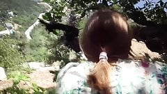 I fucked farmer's wife in forest