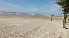 Micro bikini exhibition in the public beach's Thumb