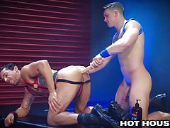 HotHouse Gorgeous Guy Fucks Ass with Dildo and Dick