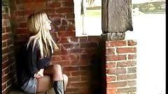 lone girl peeing