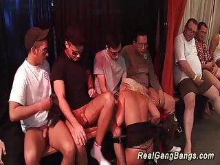 busty tattooed milfs first gangbang orgy