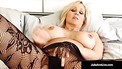 Masturbating Milf Julia Ann, plays in different Lingerie!