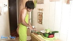 Sex-hungry twink ass goes for a vegetarian diet
