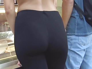 tight spandex ass beautiful blonde