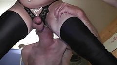 slut eating anal creamoie with spoon