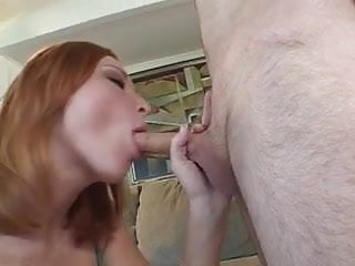 Cute freckleface redhead daughter practices sucking dick