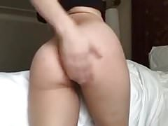 Lily Spanking Her Tight Asian Ass
