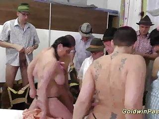 hot chicks in wild lederhosen gangbang