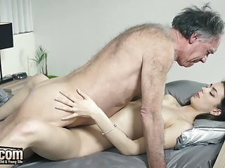 Grandpa Fucks Teen Shoves His Cock Inside Her Hard And Deep