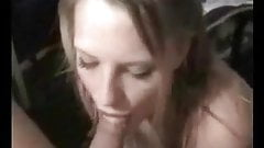 Beautiful blonde amateur wife blowing