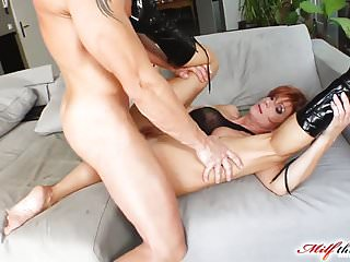 Preview 4 of Milf Thing Redhead milf gets her mature pussy fucked