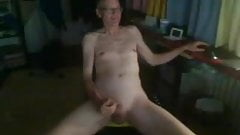 old man jerking off in a dark room