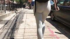 Skinny teen ass in leggings (jiggle) part 1