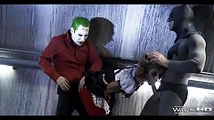 Threesome with Batman and Joker