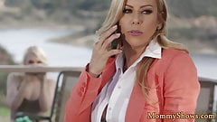 Classy milf seduced by her new stepdaughter 's Thumb