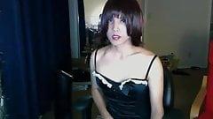 Amateur transsexual masterbating