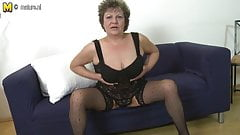 Busty amateur granny
