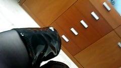 OTK boots Black Pleaser