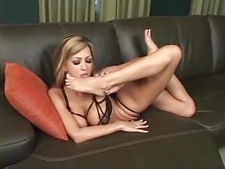Hot Blonde Self Foot Worship