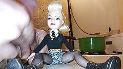 Cum on Gwen Stefani doll