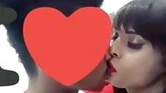 Shemale  Shenaya Lorance kissing her boy friend