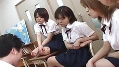 Four Japanese school girls spi