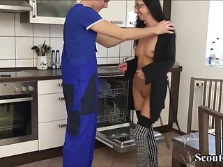 18yo German Teen Stella Fuck the Worker to Pay the invoice