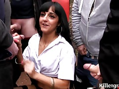 Cum slut Desi babe goes dogging