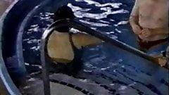 Sexy quad amputee swim
