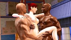 3D interracial cuckold gangbang and cave exploring pincess g