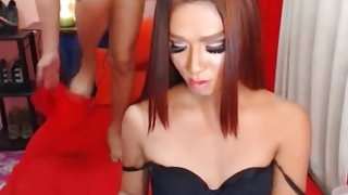 Two Asian Gorgeous Shemale Anal Fuck On Cam