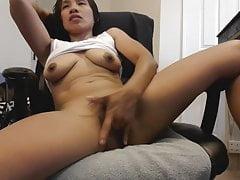 Big Nipples Latina Masturbates Her Wet Hairy Pussy