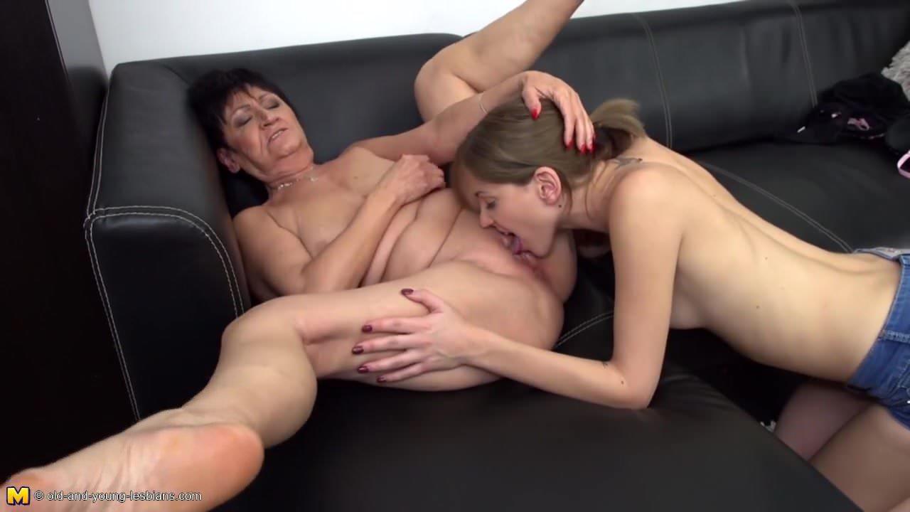Grandma Lesbian Sex - Taboo lesbian sex with granny and granddaughter