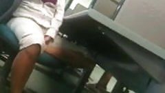 Candid Incredibly Sexy Latina Feet in Computer Lab