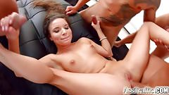 Petite Anita Bellini anal 5 guy gangbang on Ass Traffic part