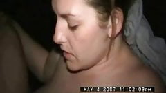 wife in video booth