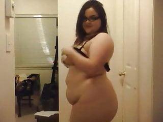 BBW ChubolateChip does striptease