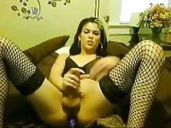 Webcam sexy bitch stroking & dildoing