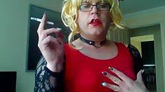 Simone Dirty Talking Sissy Smoke Whore