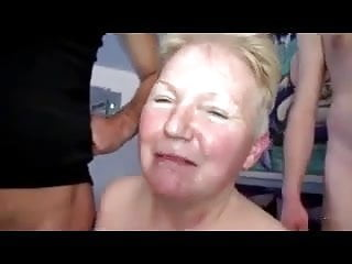 Horny Granny Takes on Two Cocks
