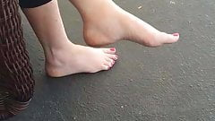 Sister in law's sexy bare feet
