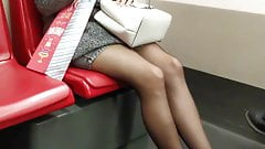 Candid Subway Pantyhoses