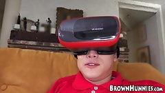 Ebony hottie Anya Ivy screwed by young VR fan