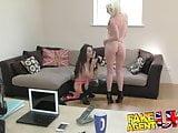 FakeAgentUK Hardcore threesome with 2 dirty hot British girl